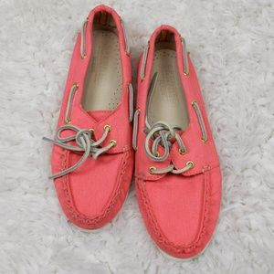 Sperry Topsider for J. Crew Pink Boat Shoes Size 7